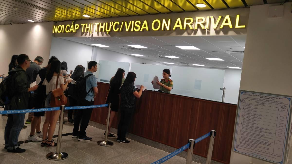 Danang airport Vietnam